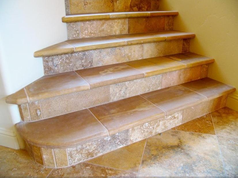 Amazing Concrete Home Stairs Design Photo