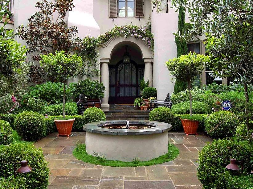 ... Amazing Mediterranean Garden Idea In Modern Home