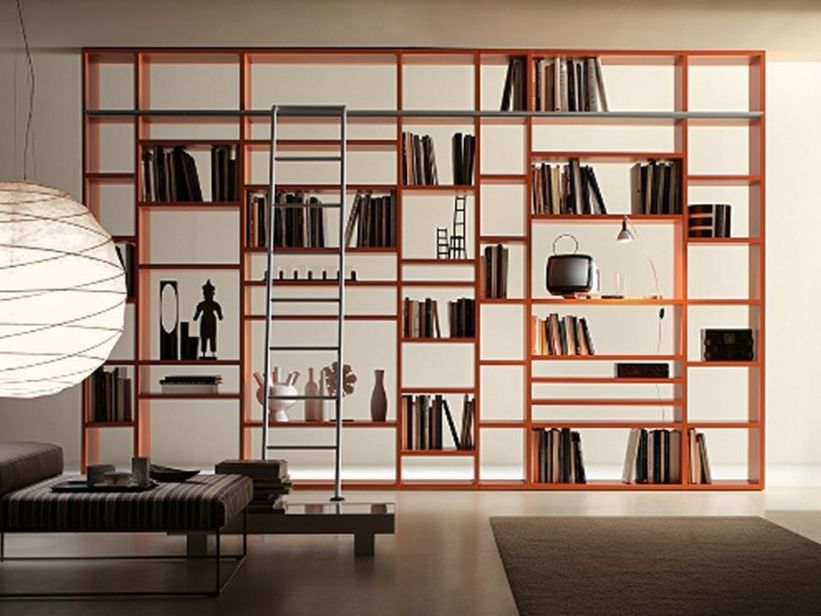 Amazing Modern Home Library Shelves Design