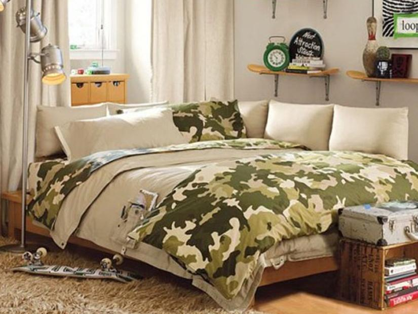High Quality Army Bedroom Decor Idea For Kids