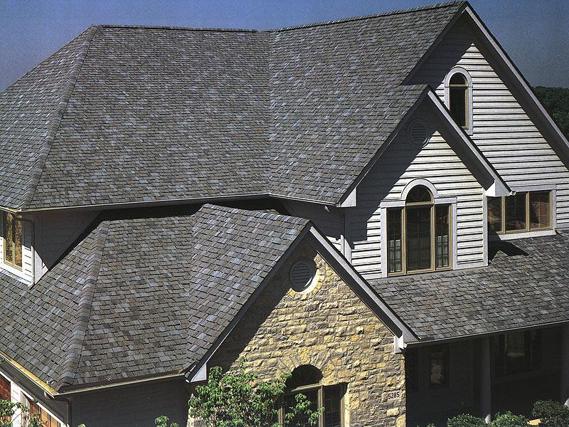 Asphalt Roof Design For Big House