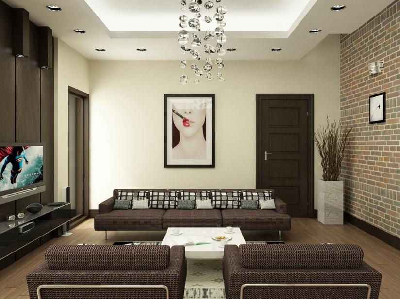 Awesome Brown Paint Color For Living Room