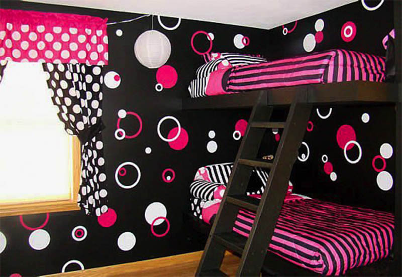 Awesome Circle Wallpaper Layout For Bedroom