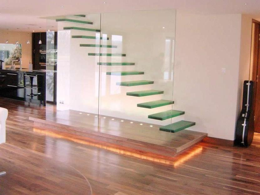 Awesome Glass Stairs On The House Wall