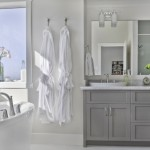 Awesome Minimalist Gray Bathroom Design Picture