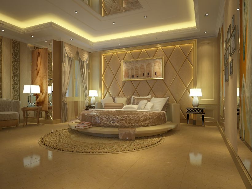 Awesome Modern Bedroom Furniture In Luxury House