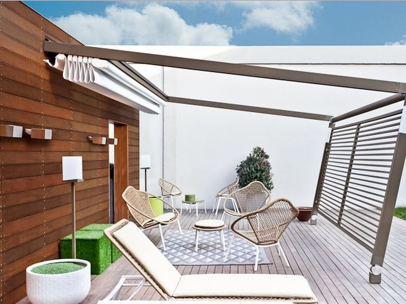 Back Home Terrace Furniture Design Picture