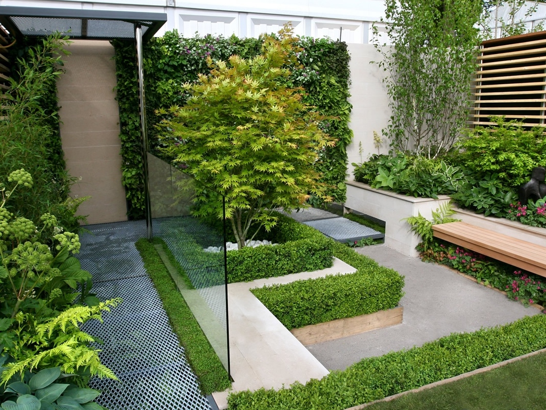 Home Garden Design Glamorous Backyard Garden Design For Modern House  4 Home Ideas Inspiration