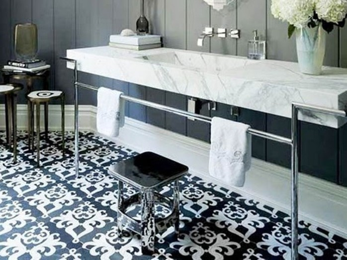 Beautiful Black And White Tile Color