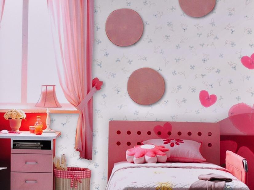 Beautiful Circle Wallpaper For Girls Bedroom