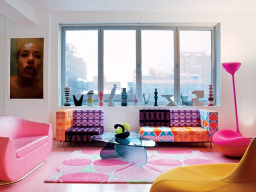 Beautiful Colorful Home Decor Layout Picture