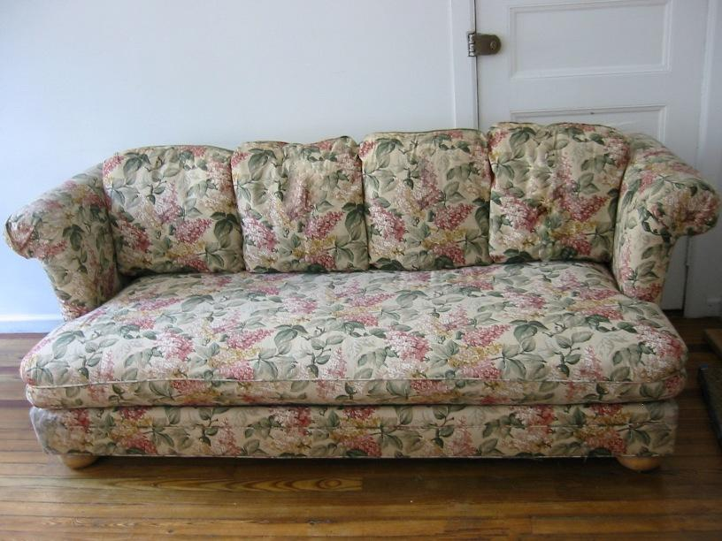 Beautiful Country Sofa With Flower Image