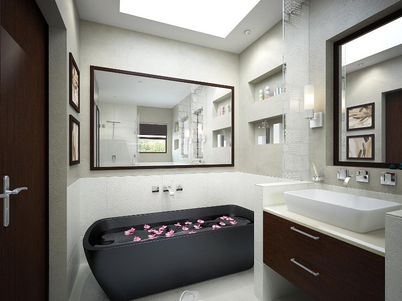 Beautiful Decoration For Modern Bathroom Design