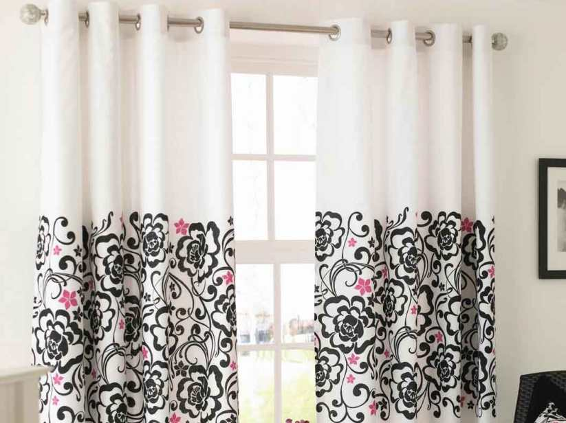 Beautiful Floral Design For Home Curtain