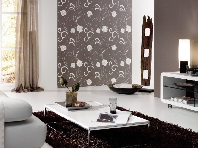 Beautiful Floral Wallpaper For Living Room