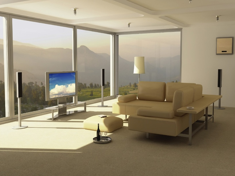 Beautiful View For Modern Living Room