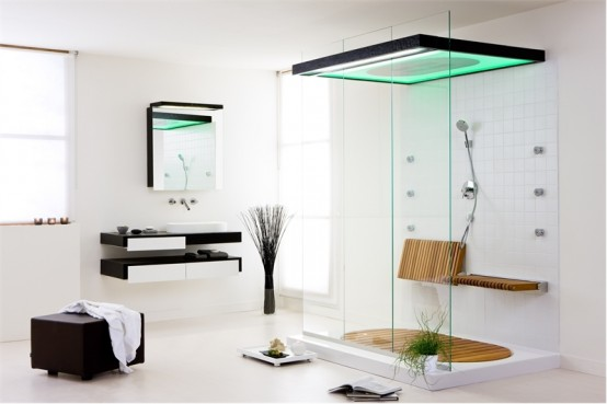 Beautiful White And Black Bathroom Color