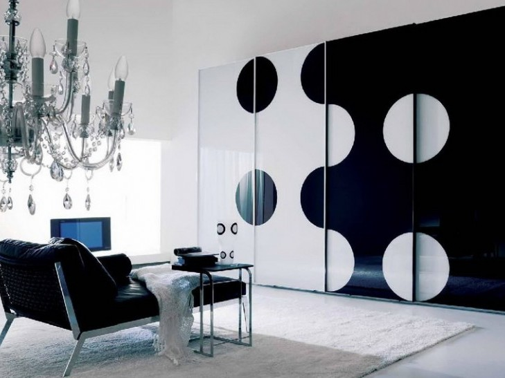 Black And White Bedroom Wardrobe Design