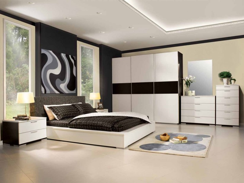 Black And White Color For Minimalist Bedroom
