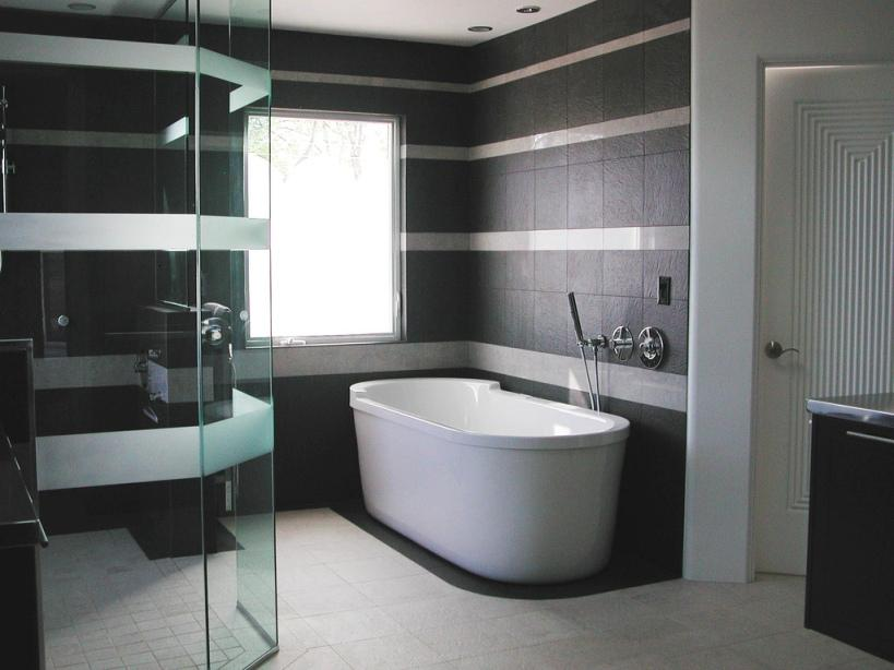 Black And White Contemporary Home Bathroom