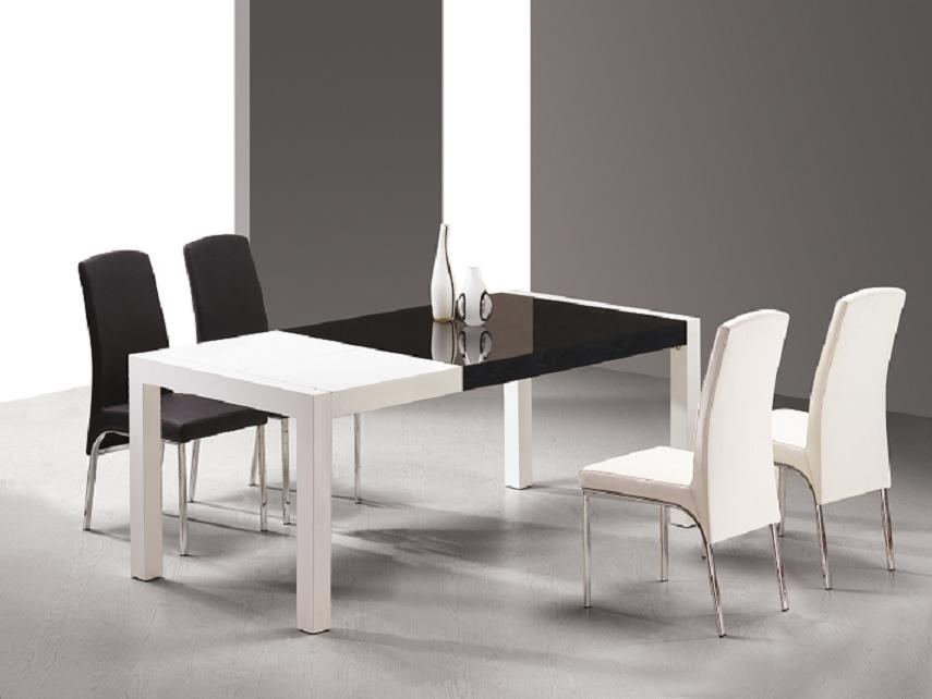 Black And White Dining Room Table Set