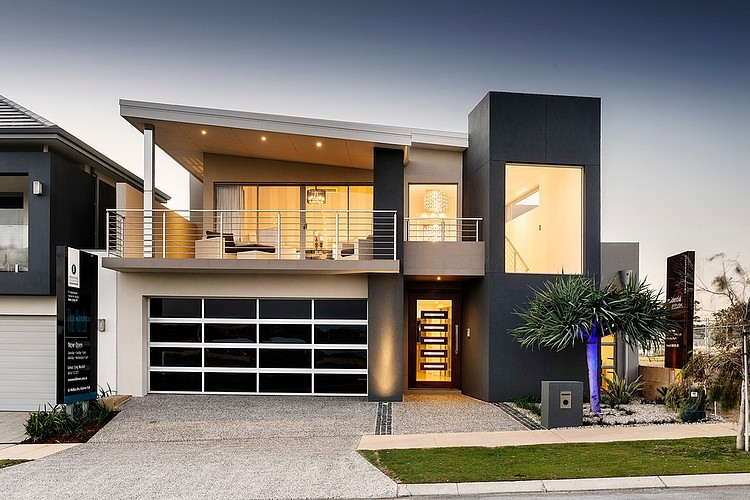 Black And White Home Facade Color