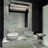 Black Ceiling Design For Minimalist Bathroom