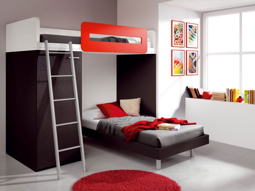 Black White Red Teen Bedroom Color