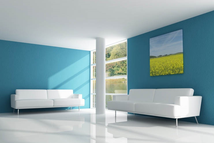 Home Paint Designs home Blue And White Modern House Interior