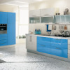 Blue And White Simple Kitchen Design