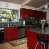 Bold Red Cabinet For Home Kitchen