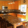Bright Orange Color For Cheerful Kitchen