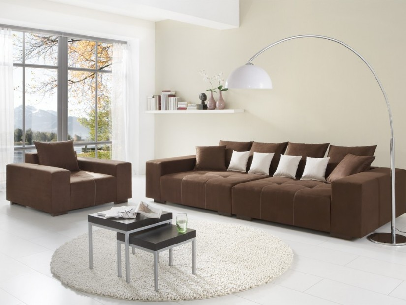 Brown Color Design For Minimalist Sofa