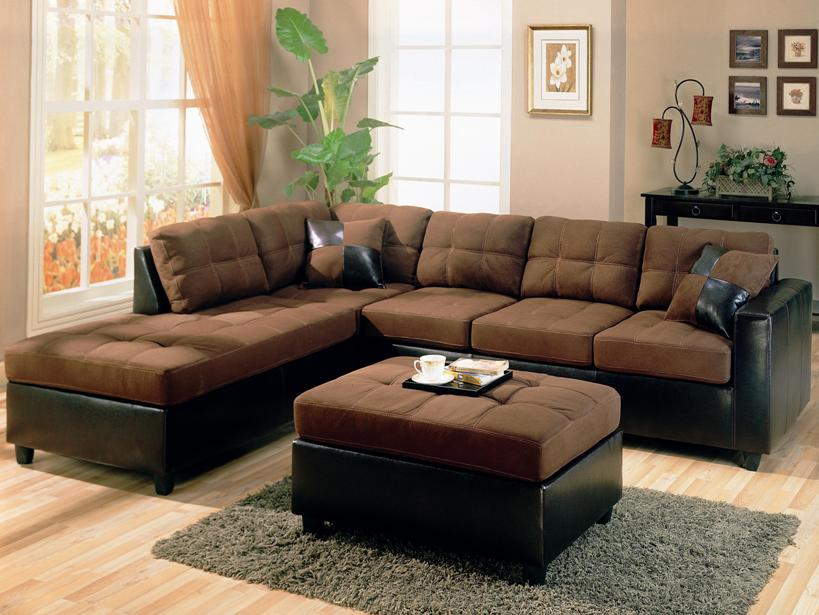 convenient brown color in the family room 4 home ideas Brown Furniture ...