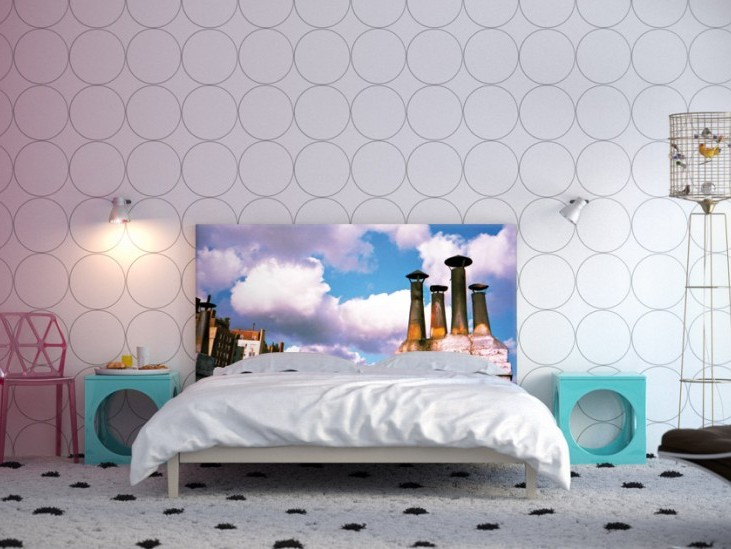 Circle Wallpaper Design For Modern Bedroom