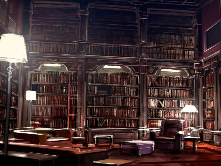 classic big home library decoration idea - Building A Home Library