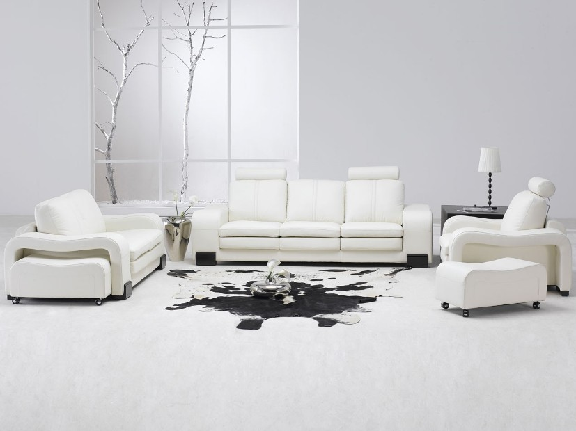 Clean Black And White Living Room