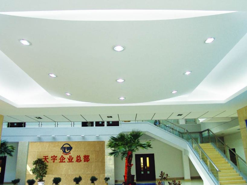 Clean Gypsum Ceiling Design With White Color