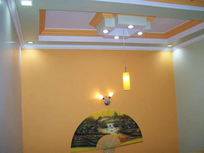 Colorful Home Gypsum Ceiling Model Picture