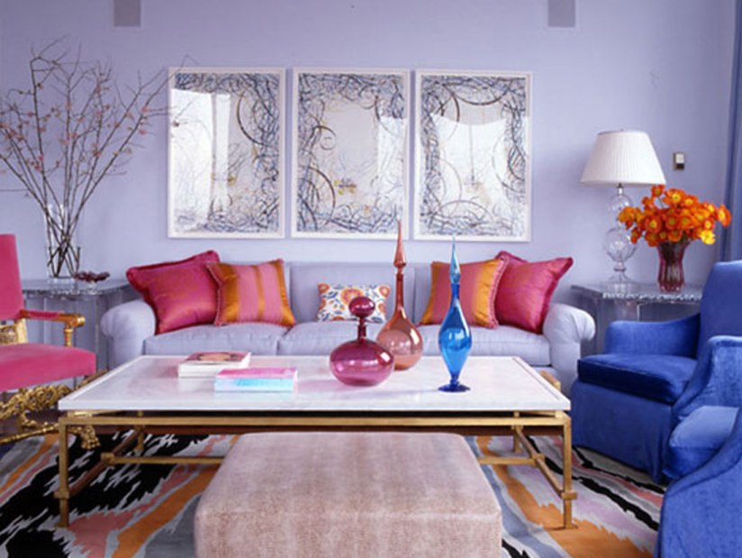 Colorful Living Room Paint Design Idea