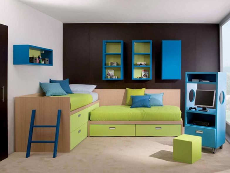 Colorful Minimalist Children Bedroom Design Idea
