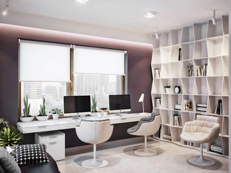 Contemporary Fresh Home Office Decor Image