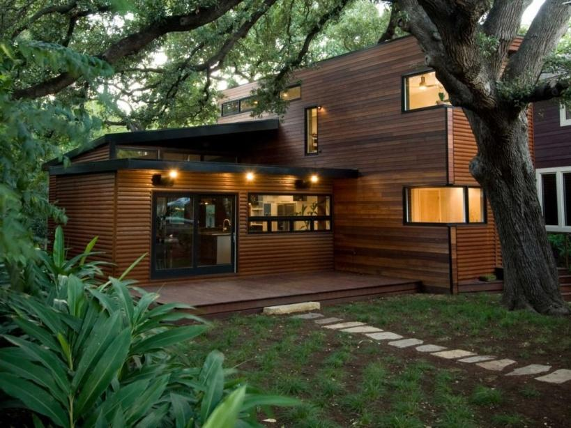 Contemporary Minimalist Wood House Design Idea