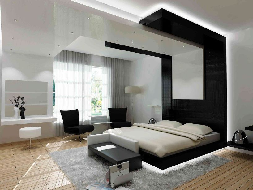 Cool Black And White Bedroom Decorr