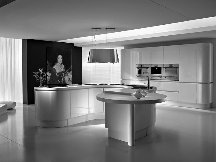 Cool Elegant Silver Home Kitchen Picture
