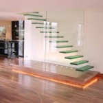 Cool Glass Stairs Design Idea Photo