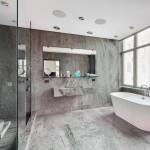 Cool Gray Bathroom Design For Modern Home