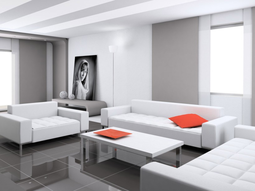 Cool Living Room Design With Gray Color