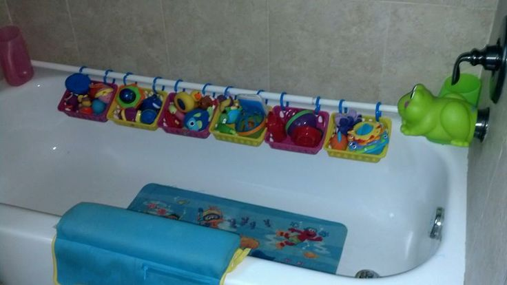 Cool Toy Storage In Modern Bathroom