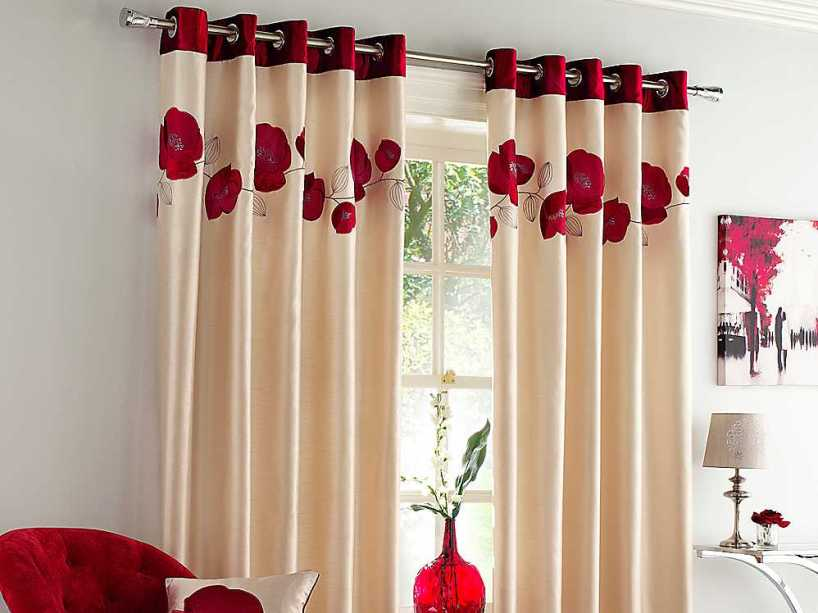 Cool Windows Curtain With Flower Design
